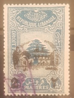 "NO11 #145 - Lebanon 1942 Cedar Design 2p40 Fiscal Revenue Overprinted ""2"" And Beit-ed-Din Palace - Lebanon"