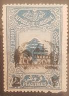 "NO11 #145 - Lebanon 1942 Cedar Design 2p40 Fiscal Revenue Overprinted ""2"" And Beit-ed-Din Palace - Mint - Lebanon"