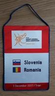 Pennant Women's Handball World Championship Slovenia : Romania 3.12.2017 15x21cm - Handball