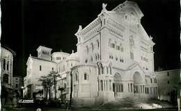 Monaco - La Cathédrale Illuminée - Semi Moderne Petit Format - Bon état - Kathedrale Notre-Dame-Immaculée