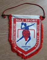 Pennant Women's Handball Club Max Sport Nova Pazova 1959 Serbia 24x25cm - Handball