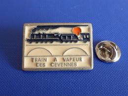 Pin's Train à Vapeur Des Cévennes - Anduze à Saint-Jean-du-Gard - Locomotive Ancienne (QB63) - Transportation
