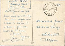 8Eb-246: POSTES-POSTERIJEN B.P.S. 14 10-7-65 > Charleroi : Pk: KÖLN Hohenzollernbrücke Und Dom - Marcofilia