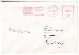 K79 Germany Red Meter Freistempel EMA 1982 Mönchengladbach Hacoba Machines Textiles - Textile