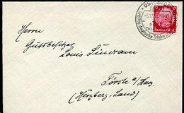 39789 Germany Reich, Special Postmark 1933 On Circuled Cover, Osterode Am Harz,deutsche Trinkwassertalspesse,talsperre - Allemagne