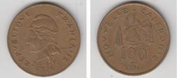 NOUVELLE CALEDONIE - 100 FRS 1976 - Nouvelle-Calédonie