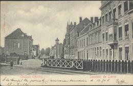 SOUVENIR DE LIERRE * CHAUSSEE D'ANVERS * ANTWERPSESTWG. LIER * SPOORWEGOVERGANG * 1902 - Lier