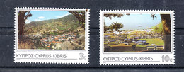 """Cipro  - 1985. I Due Francobolli """" Panorama """". The Two Stamps """" Panorama. Of Chypre"""".  Of The Series. MNH - Geografia"""