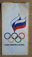 Pennant SLOVENIA National Olympic Committee 12x24cm - Apparel, Souvenirs & Other