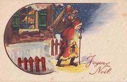 CPA ( Pere Noel)  Joyeux Noel   (b 12) - Weihnachtsmänner