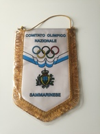 Pennant SAN MARINO National Olympic Committee Comitato Olimpico Nazionale 20x29cm - Apparel, Souvenirs & Other