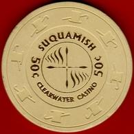 50¢ Casino Chip. Clearwater, Suquamish, WA. I03. - Casino