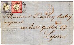 ALSACE-LORRAINE Lettre De PUTTLINGEN Le 11/11/72  Affr. à 3 Gr.   Pour Lyon Par Paris - Poststempel (Briefe)
