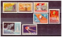 URSS681) 1962 -Lotto Dell'Annata - 4 Serie Cpl 7 Val.MNH** - 1923-1991 URSS