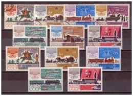 URSS682) 1965 - Storia Servizio Postale -Unificato 3022-28 Serie Cpl 7 Val. USED E MNH** - 1923-1991 URSS