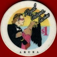 $1 Casino Chip. Royal Cabana, Aruba. I03. - Casino