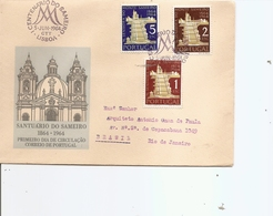 Portugal ( FDC De 1964 Voyagé Vers Le Brésil à Voir) - FDC