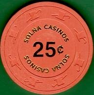 25¢ Casino Chip. Solna Casinos, Sweden. I03. - Casino