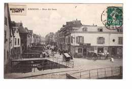 80 Amiens Rue Du Don Cpa Animation Peu Fréquente Attelage Cachet Amiens 1911 - Amiens
