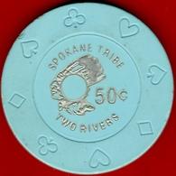50¢ Casino Chip. Two Rivers, Davenport, WA. I03. - Casino