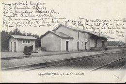 MEREVILLE  91 ANCIENNE SEINE-ET-OISE  25 LA GARE EDIT. ROYER  JCT&DG - Mereville