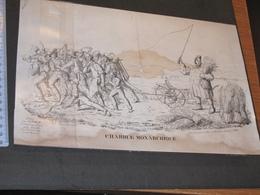 CHARRUE MONARCHIQUE - LITHO FRANCO ALLEMANDE PAR DAMBOUR A METZ - DEBUT XIXe - Estampes & Gravures