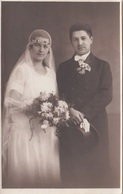 JUNGES BRAUTPAAR, Fotokarte 1925 - Paare