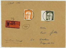 Wertbrief Aus Berlin Schöne Heinemenn MIF 428 + 432 - Berlin (West)