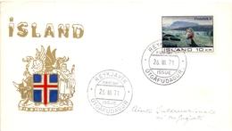ISLAND FIFTH INTERNATIONAL TO REFUGEES 1971 COVER   (NOV180040) - FDC