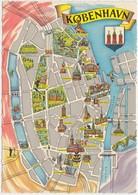 KOBENHAVN, COPENHAGEN, Mini Map, 1960s Unused Postcard [22169] - Denmark