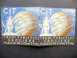 CIT Treni Turistici Crociere Viaggi In Comitiva 1935 Brossura Turistica - Vecchi Documenti