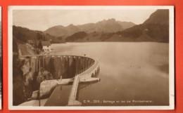 TRA-29 Barrge Et Lac De Montsalvens Cachet 1927  Morel 2210 - FR Fribourg