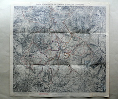 Carta Topografica Di Cortina D'Ampezzo E Dintorni Anni '30 Turismo Alpi Montagna - Autres Collections