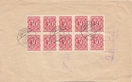 ÖSTERREICH NACHPORTO 1955 - 10x30 Gro Nachporto Auf Rsb Brief Gel.Waidhofen A.d. Thaya > Wien IX - Portomarken