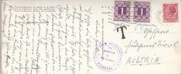 ÖSTERREICH NACHPORTO 1958 - 2x1 S Nachporto + 35 Lire + T-Stempel + Sonderstempel Auf Großer Ak MARINA DI RAVENNA - Portomarken