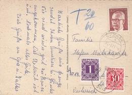 ÖSTERREICH NACHPORTO 1971 - 30 Gro + 1 S Nachporto + 30 Pfg Auf Ak SPENGE In Westfalen - Portomarken