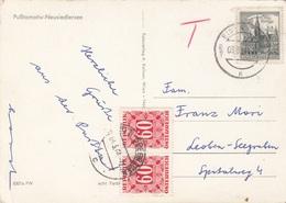 ÖSTERREICH NACHPORTO 1964 - 2x60 Gro Nachporto + 30 Gro Auf Ak NEUSIEDLERSEE - Portomarken