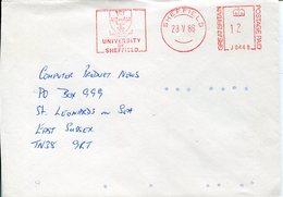 39803 England, Red Meter Freistempel Ema, 1986 Sheffield University Of Sheffield,  Circuled Cover - Affrancature Meccaniche Rosse (EMA)