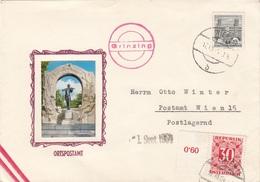 ÖSTERREICH NACHPORTO 1964 - 30 Gro Mit Randstück Nachporto + 50 Gro Automatenmarke Auf Schmuckbrief Ortspostamt Grinzing - Portomarken