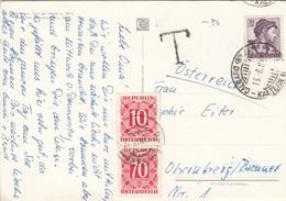 ÖSTERREICH NACHPORTO 1965 - 10 + 70 Gro Nachporto + 30 Lire Auf Ak DOLOMITEN - Portomarken