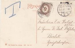 ÖSTERREICH NACHPORTO 1907 - 10 Heller Nachporto Auf Ak BRESLAU - Portomarken