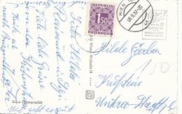 ÖSTERREICH NACHPORTO 1957 - 1,5 S Nachporto Auf Ak WIEN HÖHENSTRASSE - Portomarken