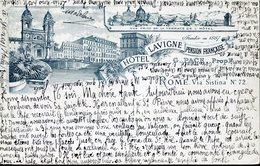 39805 Italia, Circuled Card 1904,hotel Lavigne Pension Francaise, Roma  Via Sistina 72 - Hotels & Restaurants