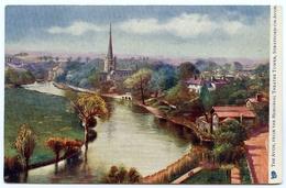 STRATFORD ON AVON : THE AVON, FROM THE MEMORIAL THEATRE TOWER (TUCK'S OILETTE) - Stratford Upon Avon