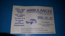 Carte Ambulances Montesson Ds Citroene - Cartes De Visite