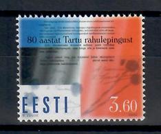 ESTONIA 2000 - 80° ANNIVERSARIO TRATTATO DI PACE - MNH ** - Estonia