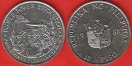 "Philippines 10 Piso 1988 Km#250 ""People Power Revolution"" UNC - Philippines"