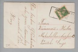 Heimat CH ZH Engstringen 1923-06-04 Aushilfsstempel Auf Ansichtskarte - Schweiz