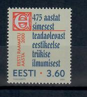 ESTONIA 2000 - ANNO DEL LIBRO ESTONE - MNH ** - Estonia