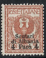 1915 LEVANTE SCUTARI D'ALBANIA SINGOLO SASSONE 9 MNH RARO - Emissions Générales